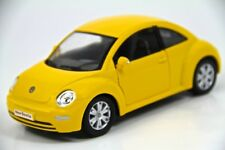 "6.5"" Kinsmart VW Volkswagen Beetle New Diecast Model Toy Car 1:24 Yellow"