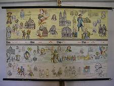 Wandbild Wandkarte Geschichte von 1500-1789 Neuzeit 119x81cm ~1958 vintage map