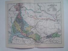 "Contea di DUMBARTON SCOZIA Antico Bartholomew Mappa data 1898 7""x9"" PHILIPS ATLAS"