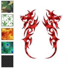 Pair of Dragon Tribal Decal Sticker Choose Pattern + Size #223