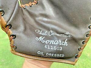Vintage Monarch 50's Baseball Glove first base Mitt Phil Cavarretta Nokona 41160