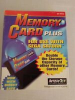 Sega Saturn Memory Card Plus Interact 8MB Direct Save New