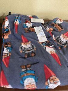 Croft & Barrow Gnomes Gray Sleep Lounge Pajama PJ Pants Mens Size SMALL NWT