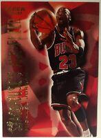 1996-97 Fleer Stackhouse's All-Fleer #4 Michael Jordan Insert, Chicago Bulls HOF