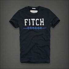 Abercrombie&Fitch A&F Saranac Lake Men's Muscle Fit T-Shirt Navy Vintage NEW XL