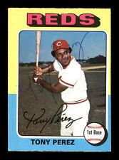 Tony Perez Autographed Auto 1975 O-Pee-Chee Card #560 Cincinnati Reds 169065