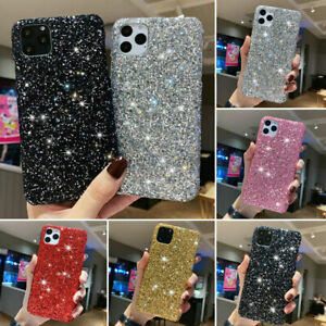 Bling Glitter Case For iPhone 12 11 Pro XS XR SE 7 8 6 Plus Sparkly Slim Cover