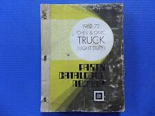 CHEVROLET & GMC LIGHT TRUCK MASTER PARTS CATALOG 62 - 1972 *original*