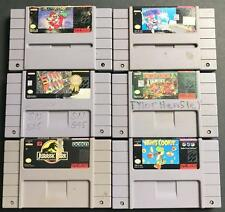 Super Nintendo (SNES) LOT DK Country, Super Mario World, SimCity, Yoshi,Jurassic