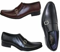 MENS LEATHER SMART WORK OFFICE FORMAL DRESS WEDDING PARTY ITALIAN SLIP ON SHOES
