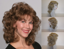 80S WOMEN SHORT SHOULDER LENGTH CURLY WAVY LAYERED SHAG STYLE WIG W/ BANGS MARLA