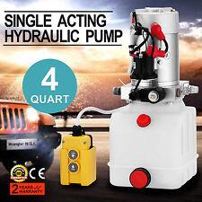 3 QUART SINGLE ACTING HYDRAULIC PUMP DUMP TRAILER CONTROL KIT 12 VOLT UNIT PACK