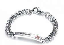 Mealguet Jewelry PACEMAKER- 8mm Surgical Steel Medical Alert ID Idenfication