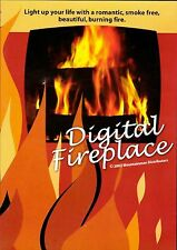 DIGITAL FIREPLACE: VIRTUAL CHRISTMAS HOLIDAY DVD w/REAL CRACKLING NATURAL SOUND