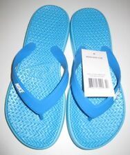 Nike Solay Thong Print Women's Flip Flop Style Sandals Chlorine Blue/white 7
