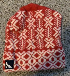 Vintage Serac Wool Red Ski Snowboard Hat Cap Handmade in USA Winter Beanie