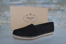 luxus PRADA Gr 42,5  8,5 Slipper Loafers Halbschuhe Schuhe schwarz NEU UVP 460 €