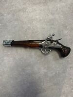 Avon Vintage Dueling Pistol Glass Gun Decanter Tai Winds Aftershave Full