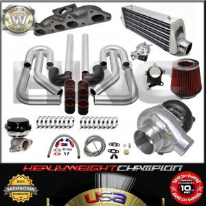 Turbo Kit T3/T4 for 94-02 Honda Accord CL F22B F23A FMIC PK WG BOV Manifold BK