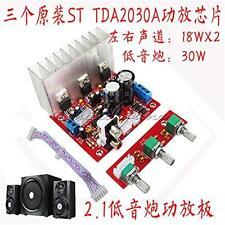 TDA2030A Bass 2.1 Power Amplifier Board 3 Sound Track PC Speaker Circuit 18W+18W