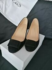 LK BENNETT BLACK SUEDE COURT SHOES SIZE 6 USED - STILL IN BOX WITH DUST BAG