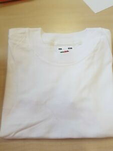 New Children's teeshirt  Fruit of The Loom white  Childs age 3-4 PACK OF 3