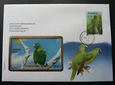 Jamaica Parrot 1995 Bird (phonecard stamp FDC)