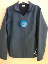 Columbia Kruser Ridge Softshell Jacket Womens XL Blue Water Wind Resistant New