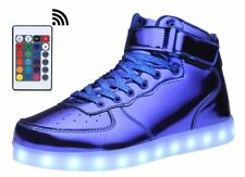 MOHEM ShinyNight High Top LED Shoes USB Charging  Sneakers 31 (EU), 13Y (US)