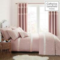 Catherine Lansfield Sequin Cluster Blush Luxury Duvet Cover Set or Accessories