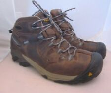 KEEN Mens Brown Leather Steel Toe Boots Sz 10 Mens insulation Keen Dry Lace Up