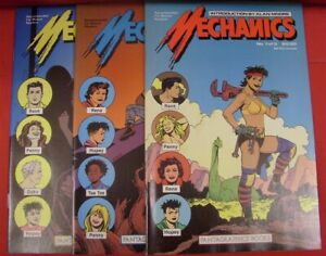MECHANICS 1-3 FANTAGRAPHICS COMIC SET COMPLETE LOVE & ROCKETS HERNANDEZ 1985 VF+