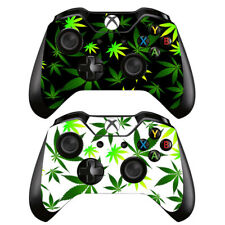 2 Pack Xbox One Controllers Remote Vinyl Skin Decals Set Cannabis Weed Marijana