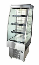 Omcan RTS-250L, 27x24x67.75-Inch Open Refrigerated Display Case, 9 Cu. Ft, CE