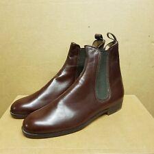 Women's en daim marron foncᄄᆭ ᄄᄂ talon bottier chaussures UK 4-afficher le titre d'origine
