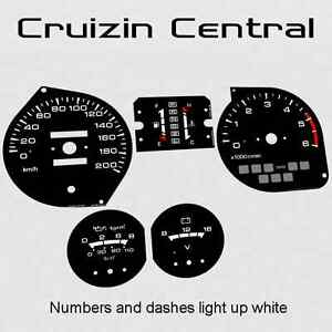 Plastic BLACK DIALS for Mitsubishi Pajero NJ NK NL gauge speedo dial cluster