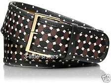 NWT Womens Tory Burch Java Multi Haber Printed Belt Small NEW
