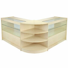 Vendita al dettaglio Contatore Maple Shop Display Cabinet storage, ripiani in vetro showcase Orion