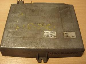 Engine ECU - Renault 25 GTX Auto 2.2 1988-90 J7T731 S100806201 7700736392