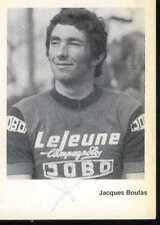 JACQUES BOULAS JOBO Signed Autographe cycling cyclisme LEJEUNE cycliste signée