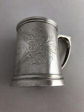 """Vintage W & H Sterling Silver 4"""" Tankard Cup Mug 276.6 grams"""