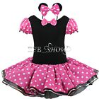 Girls Kids Minnie Mouse Party Costume Leotard Tutu Ballet Dresses Fancy Dress Up