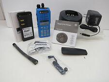 Motorola HT1250  II radio in a III housing VHF Full Keypad 136-174MHz 128Ch *Blu