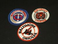 OLD BASEBALL PATCH PATCHES DETROIT TIGERS BALTIMORE ORIOLES MINNESOTA TWINS