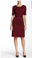 BOSS Davisa Wool Blend Dress MSRP $595 Flattering Cut
