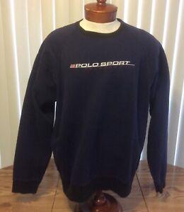 Polo Sport Ralph Lauren NWT Blue Embroidered Spellout Crew Sweatshirt XL