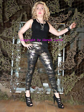 Hx66n Leggings Camouflage gold Taille XL/XXL military Brillance Stretch normalbund