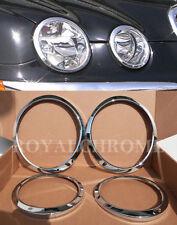 US Seller x4 ROYAL PREMIUM CHROME HEAD LAMP HEADLIGHT Surround for JAGUAR S-Type