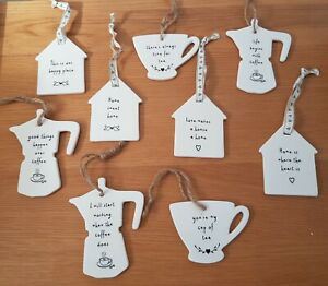 Ceramic White Home Sweet Home House Tea Cup Coffee Pot Sentimental Signs