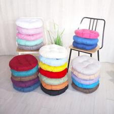Plain Round Seat Pads Cushions Patio Office Chair Kitchen Garden Indoor